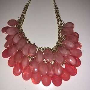 Forever 21 Statement Necklace in Gold and Pink